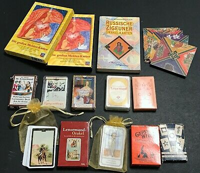 Large Lot of Fortune Telling Lenormand Oracle Cards