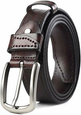 COW STAUNCH Mens Leather Belt,Full Grain Leather Belt for Casual Dress Jeans - S