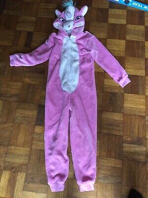 Unicorn Age 8-9 Girls All In One Pjs