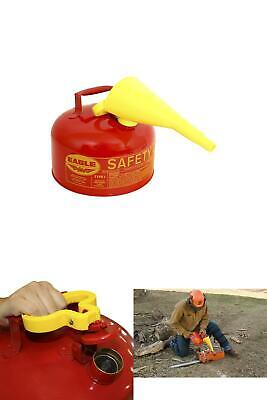 Eagle 2-Gallon Metal Gasoline Safety Can Gas Fuel Tank Galvanized Steel w/Funnel