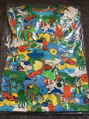 Little Bird Jools Oliver Sealife Sea Creature AOP Pyjamas 4-5 Years Retro