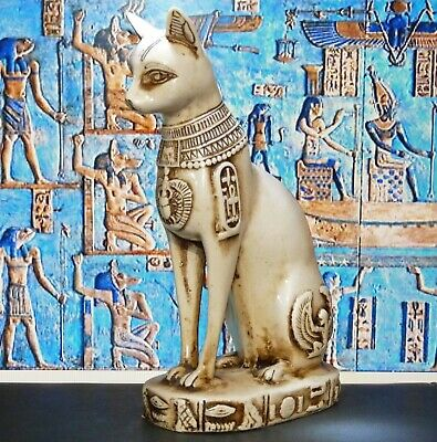 Heavy Vintage Egyptian Bast Cat Statue,Ancient Egyptian Goddess Bast/Bastet