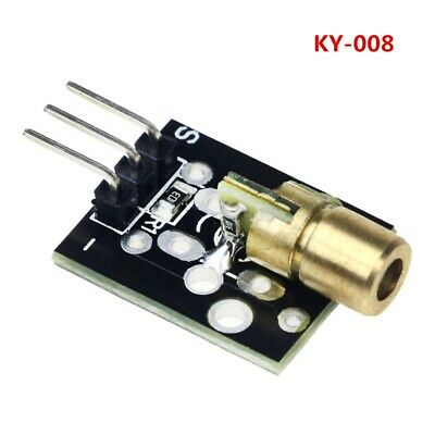 5Pcs KY-008 5V 3pin 650nm Transmitter Dot Diode Copper Head Red Laser Module Fo