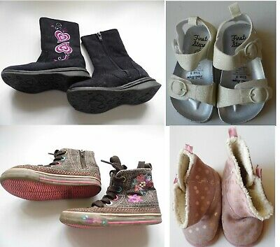 Infant / Baby Girls Shoe Bundle Size 5, boots, sandals & slippers