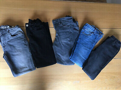 Boys Jeans Bundle H&M George Matalan 8-9 Years Blue, Black, Grey Great Condition