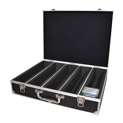Graded Coin Storage & Display Box Aluminum Travel Case fits 100 PCGS NGC Slabs