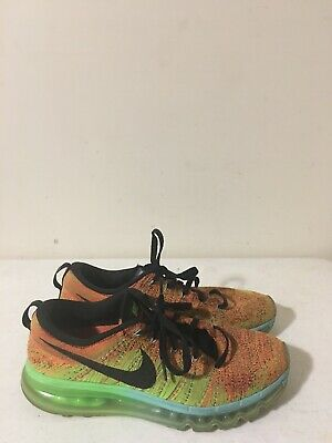 Mens Nike Flyknit Max Running Athletic Shoes Multi-Color Sz 9