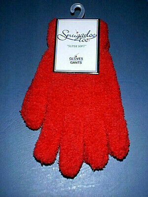 ~SNUGADOO TOO~ Super Soft Ladies / Girls RED Gloves - One Size - Brand NEW wTags