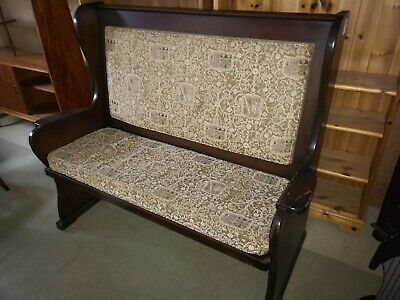 Beautiful Vintage Church Pew / Monks Bench