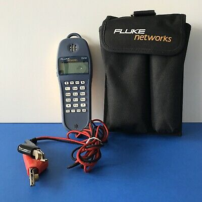FLUKE NETWORKS TS25D Test Set w/Earpc Speaker Case Printed PDF Manual Batteries
