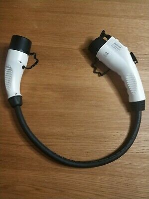 Type 2 to Type 1 EV / PHEV charging charge cable adapter 32amp converter. IP44.