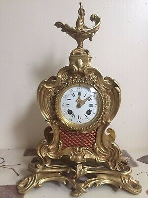 Antique French Bronze Rococo Clock