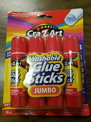 Lot of 7 Cra-Z-Art Jumbo Washable Glue Sticks 4-Pack Clear Non-Toxic 28 Total