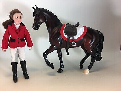 Breyer Horse Chelsea Show Jumper doll action rider figure clothing red And Horse