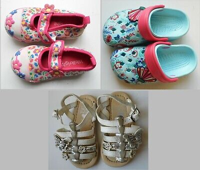 Infant / Baby Girls Shoe Bundle Size 6, Canvas pumps, Beach shoes & Sandals