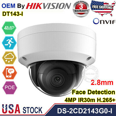IR 40M 2.8MM Hikvision 4MP POE 3AXIS DS-2CD2143G0-I  Dome IP CAMERA POE H.265