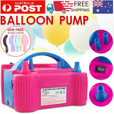 AU Portable Electric Balloon Inflator Pump Two Nozzle High Power Air Blower Hot