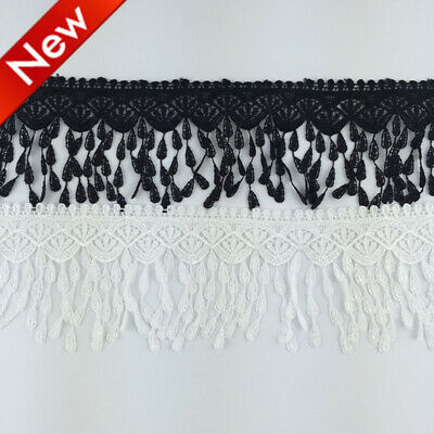 1 Yard Tassel Lace Trim Crochet Lace Ribbon Embroidered Sewing Applique DIY FP62