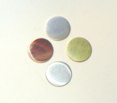set of 5 x Round 16 mm Circle Disc Blank Crafting copper silver brass aluminium