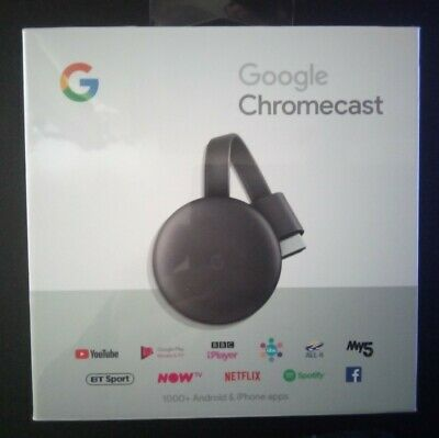 "Google Chromecast 3Rd Generation Media Streamer ""Factory Sealed"""