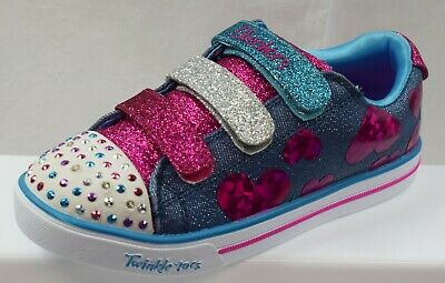 Skechers Twinkle Toes Step Up Girls Shoes Brand New Size Uk 13.5 (Ap6)