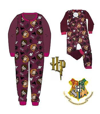 Hogwarts Harry Potter Official Licensed Fleece All In One Kids Girls Boys Pjs