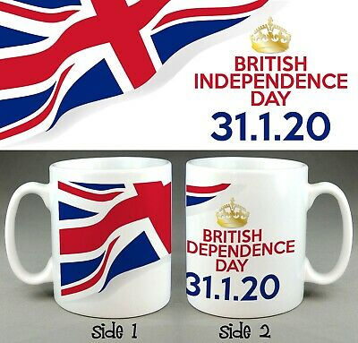British Independence Day 31.1.20 MUG, January Brexit 2020 Office Coffee Cup