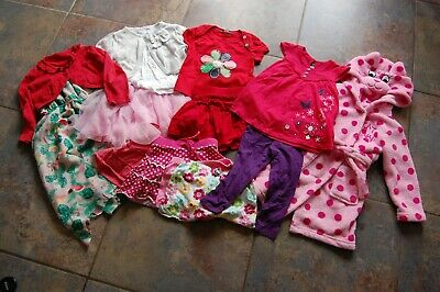 mixed girls clothes bundle monthly age 2-3 years (some 1.5-2) dressing gown.