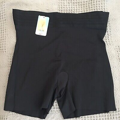 Spanx 2542 Assets Supreme Slimmers Tummy Taming Girl Short Black Sand Nude NWT