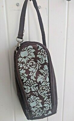 Enfamil Baby Bottle Holder/bag  Zipper Closure Brown, w Vinyl Lining