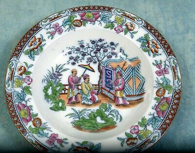 IMARI Cabinet Plate Blue Rust Asian VARY UNUSUAL Chinese Oriental Mulberry