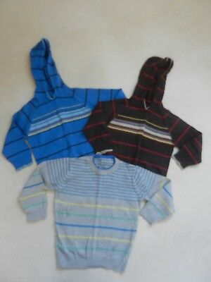 Boys 3 Piece M&S  2-3 years Jumper Top Bundle Thin Knit Marks Spencers