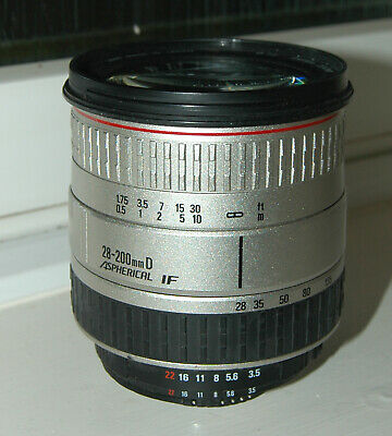 Sigma IF DL 28-200mm f/3.5-5.6 HyperZoom Macro lens for Nikon F-mount, faulty