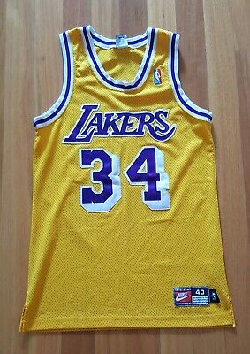 Nike Shaquille O'Neal LA Lakers Jersey 40 NBA basketball Authentic