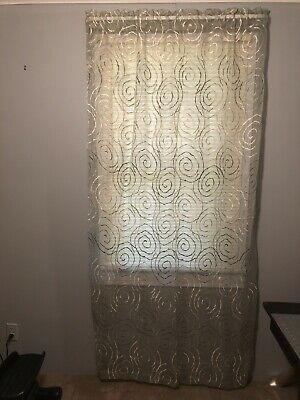Pier 1, Curtains, 54X84 ,Green