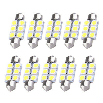 2 CYREX WHITE INTERIOR REPLACEMENT LED LIGHT BULBS DOME MAP LITE DASHBOARD B6