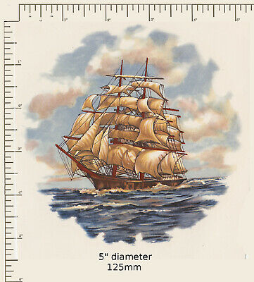 CERAMIC DECALS. Waterslide. SAILING SHIP. SEA. Two variations. Decoupage G01