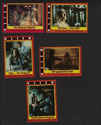 1979 Topps Alien Lot of 5 Movie Trading Cards 63 64 67 68 70 Original Vintage