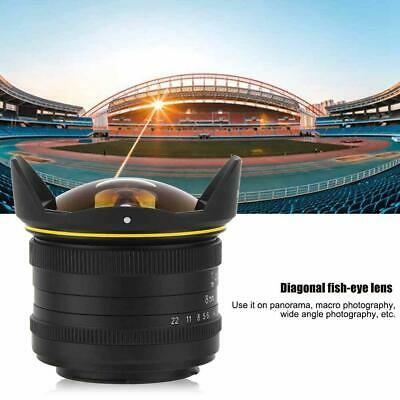 KamLan 8MM F3.0 APS-C Manual Wide Angle Fisheye Lens For Sony E Mount Camera NEW