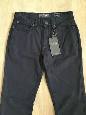 Fat Face Men's/Boys Navy Slim Fit Canvas Trouser Size 28R New With Tags RRP £45