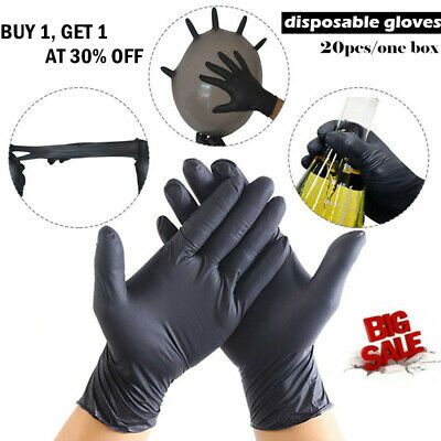 blue NITRILE DISPOSABLE gloves POWDER FREE LATEX FREE TATTOO MECHANIC VALETING