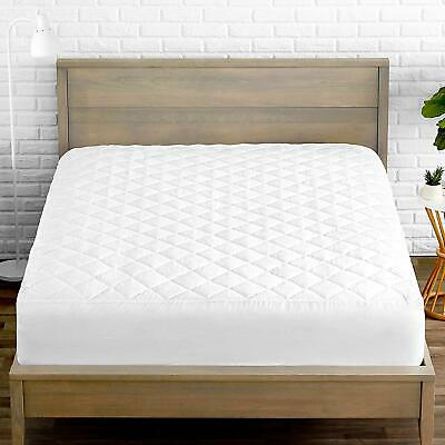 Deep Fitted Cover Quilted Mattress Bed Protector Topper Single Double King Size