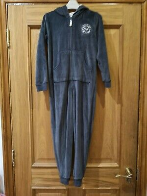 M&S 1onesie 8-9 years velour grey