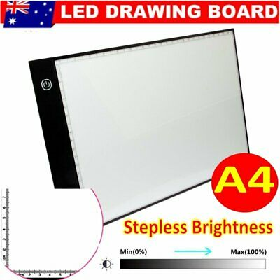 USB A4 LED Tracing Light Box Art Draw Board Stencil Diamond Painting Pad AU