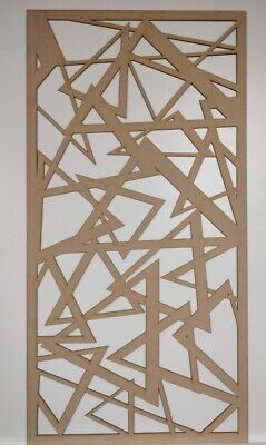 Radiator Cabinet Decorative Screening Perforated 3mm&6mm thick MDF lasercut E2P1