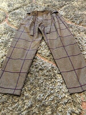 River Island Girls check pattern trousers age 12 Worn Once❤️