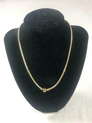 """PANDORA 16.5"""" Solid 14K Yellow Gold Charm Chain Women's Necklace Barrel Clasp"""