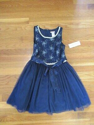 Nanette Lepore Girls Quality Light Blue  Mesh Dress Age 6 New with Tags