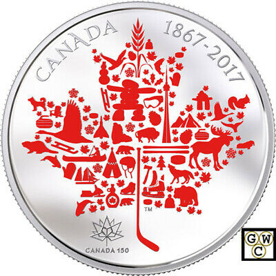 2017 'Canadian Icons' Colorized Proof $50 Silver Coin 5oz .9999 Fine(18234) OOAK