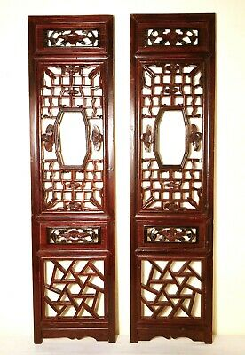 Antique Chinese Screen Panels (2968)(Pair), Cunninghamia Wood, Circa 1800-1849